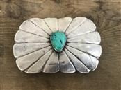 Turquoise & Silver Belt Buckle. 925 Silver 33.6dwt